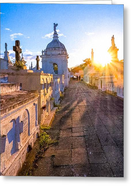 Avenue Of Tombs - Granada Greeting Card by Mark E Tisdale