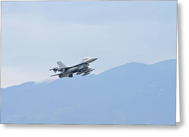 Viper Greeting Cards - Aviano F16 Greeting Card by Staff Sgt Jessica Hines