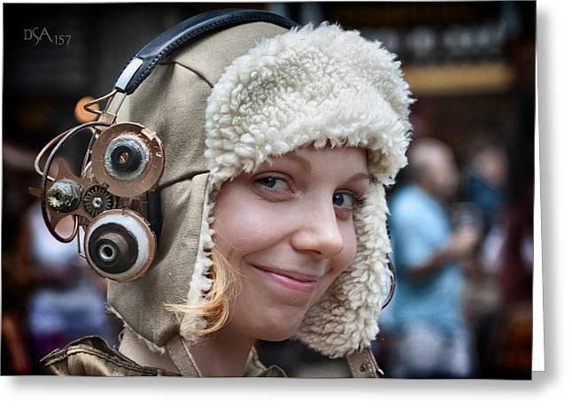 Steampunk Photographs Greeting Cards - Aviator III Greeting Card by David April