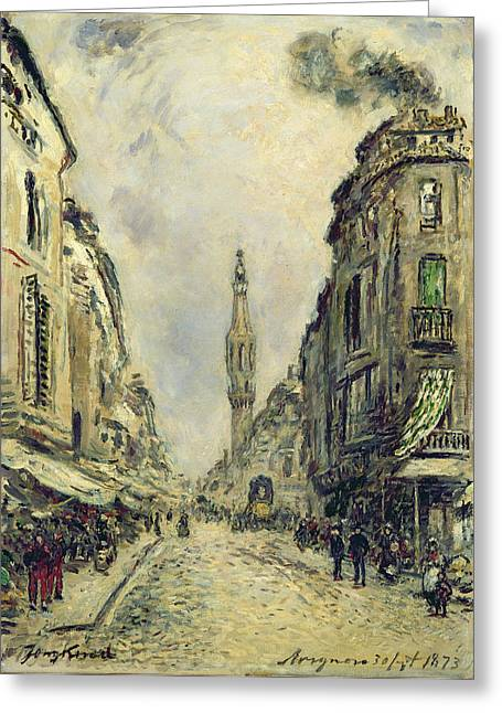 Street Scenes Greeting Cards - Avignon, 1873 Oil On Canvas Greeting Card by Johan-Barthold Jongkind