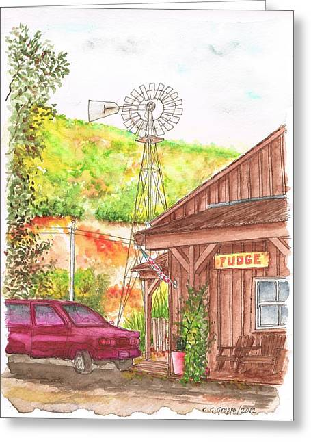 Acuarelas Greeting Cards - Avila Valley Farm in Avila Beach - California Greeting Card by Carlos G Groppa