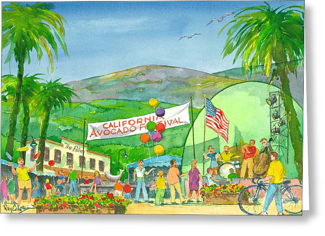 Avocado Festival Greeting Card by Ray Cole