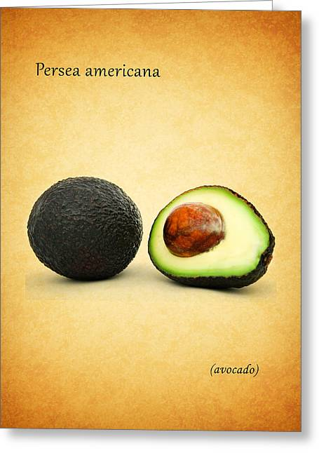 Ingredients Greeting Cards - Avocado Greeting Card by Mark Rogan