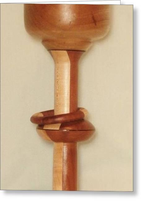 Cedar Sculptures Greeting Cards - Avocado/Red Cedar/Maple Goblet Greeting Card by Russell Ellingsworth