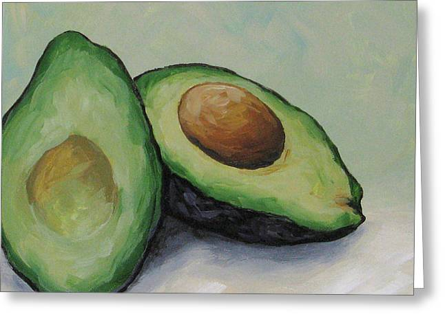 Avocados Greeting Cards - Avocado Greeting Card by Torrie Smiley