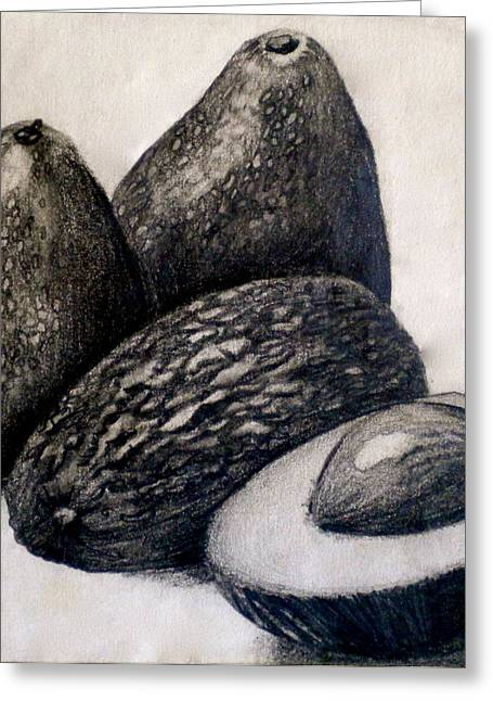 Value Greeting Cards - Avocados Greeting Card by Debi Starr