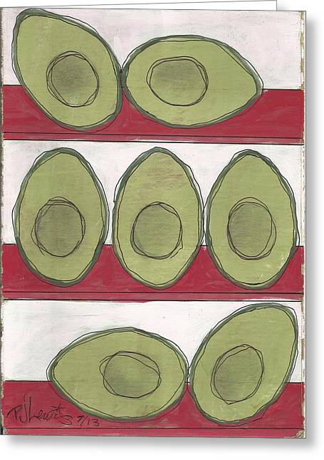 Avocados Greeting Cards - Avocados Greeting Card by P J Lewis