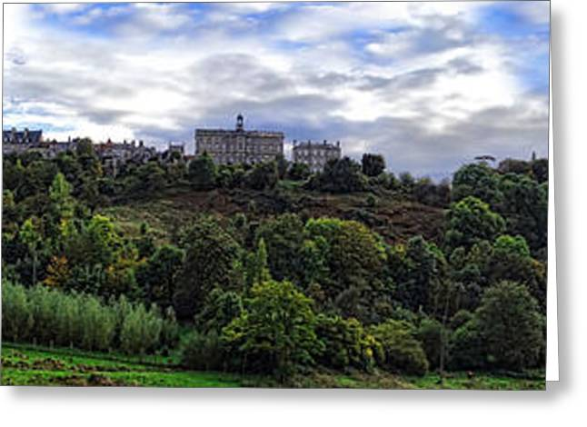 Panoramic Landscape Greeting Cards - Avranche Greeting Card by Olivier Le Queinec