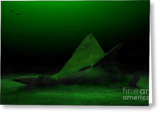 Conservative Greeting Cards - Avro Arrow in Lake Ontario Greeting Card by Tom Straub