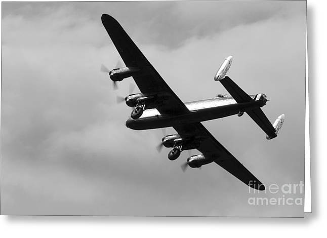 617 Squadron Greeting Cards - Avro Lancaster Greeting Card by J Biggadike