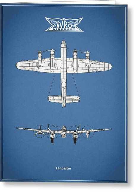Airplane Greeting Cards - Avro Lancaster Greeting Card by Mark Rogan