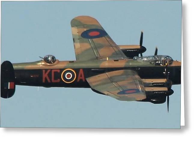 Goodwood Greeting Cards - Avro Lancaster Greeting Card by Robert Phelan