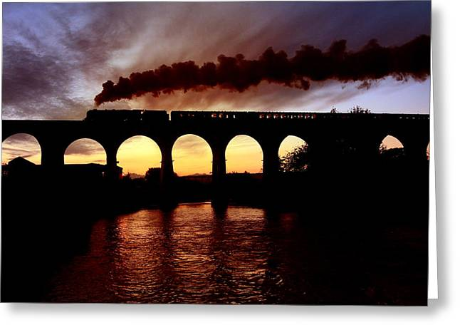 Whalley Greeting Cards - AW-14-155 steam train 17-08-14 Greeting Card by Alan Weaver
