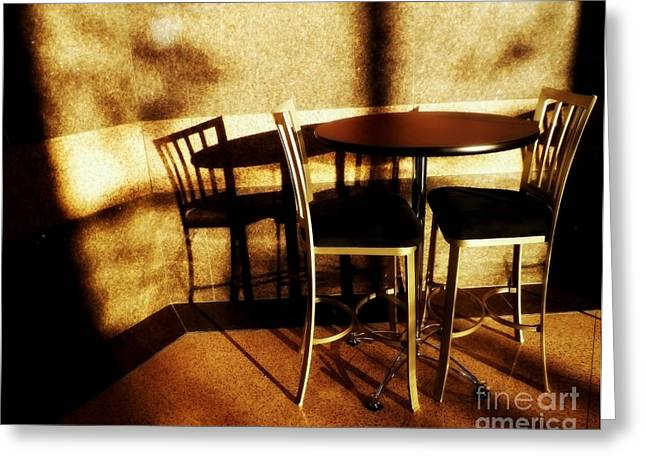 Empty Chairs Greeting Cards - Awaiting Greeting Card by James Aiken