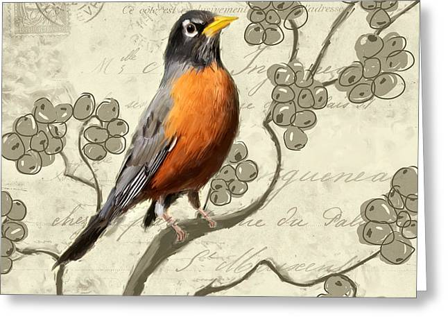 Migratory Bird Greeting Cards - Awaiting Journey Greeting Card by Lourry Legarde
