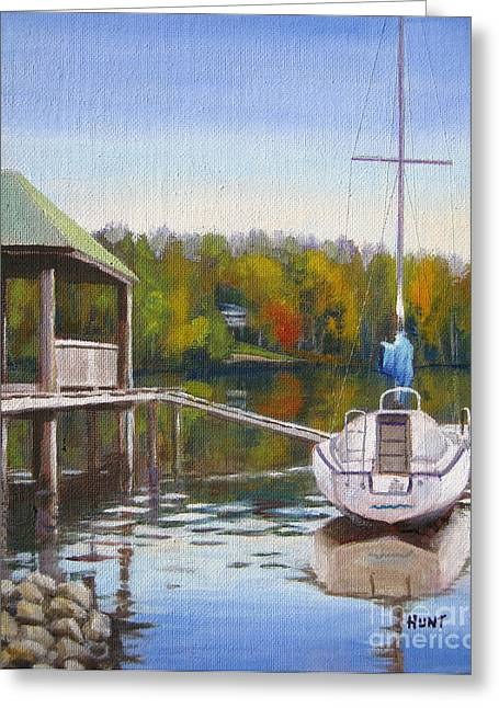 Lake Wylie Greeting Cards - Awaiting Spring Greeting Card by Shirley Braithwaite Hunt