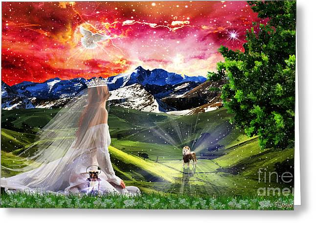 Kingdom Of Heaven Greeting Cards - Awaiting The King Greeting Card by Dolores Develde