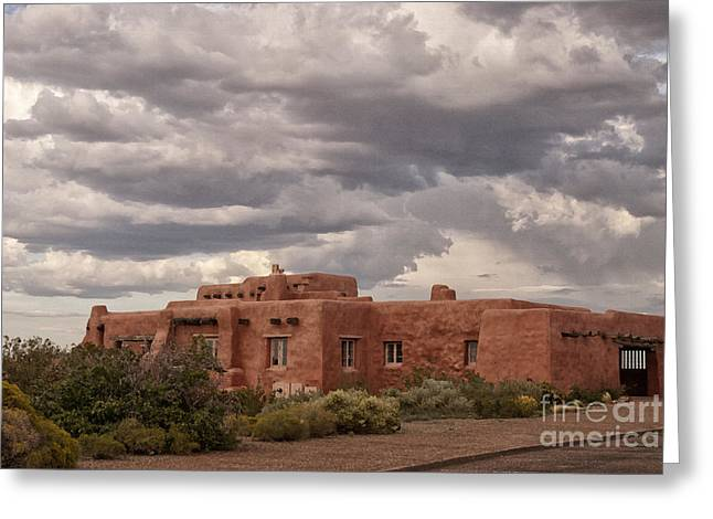 Petrified Forest National Park Greeting Cards - Awaiting the Storm Greeting Card by Melany Sarafis