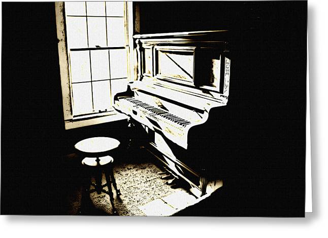 Pianist Mixed Media Greeting Cards - Awaiting Your Presence Greeting Card by Leitte Family