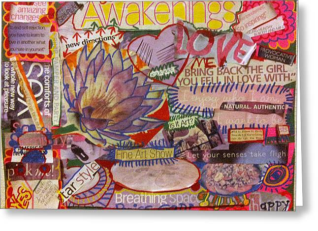 Empowerment Greeting Cards - Awake Oh My Soul Greeting Card by Phyllis Anne Taylor Pannet Art Studio