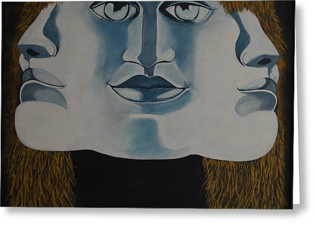 Dali Inspired Greeting Cards - Awaken To All Who Dwell Inside Greeting Card by Stuart Engel