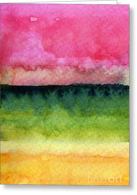 Colorful Greeting Cards - Awakened Greeting Card by Linda Woods