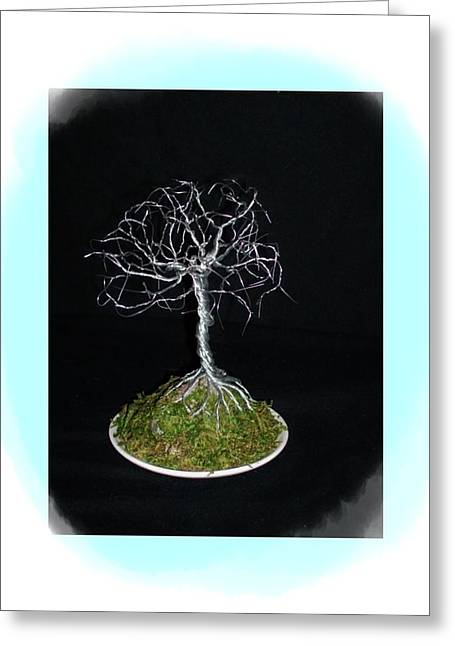 Silver Sculptures Greeting Cards - Awakened Winds Greeting Card by Tracy McCosh
