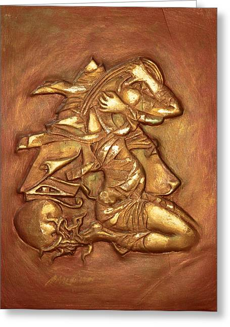 Fine Reliefs Greeting Cards - Awakening Greeting Card by Assem Omar
