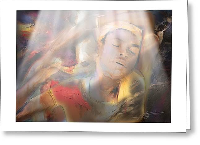 Transformations Digital Art Greeting Cards - Awakening Greeting Card by Bob Salo