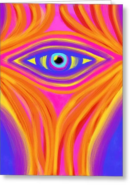 Awakening The Desert Eye Greeting Card by Daina White