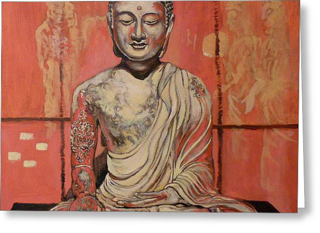 Buddhism Greeting Cards - Awakening Greeting Card by Tom Roderick