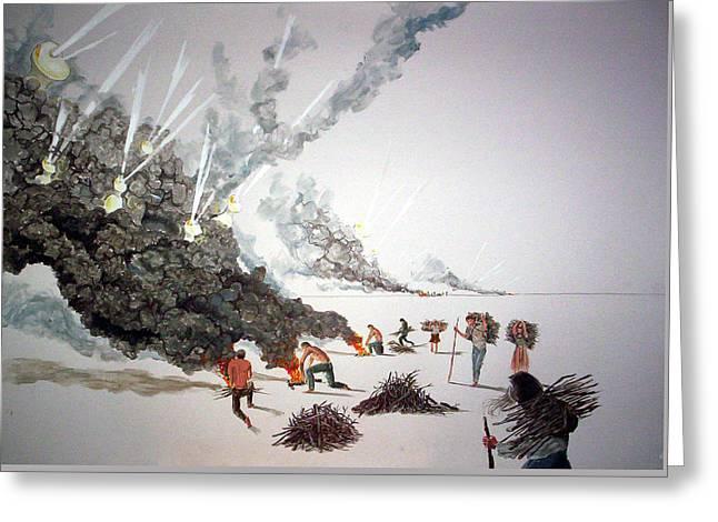 Vector Image Paintings Greeting Cards - Awakenings Greeting Card by Lazaro Hurtado