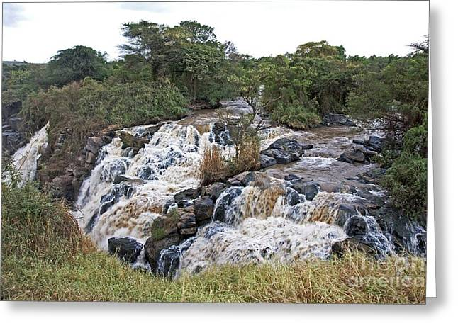 African Heritage Greeting Cards - Awash River Waterfalls, Ethiopia Greeting Card by Brian Gadsby
