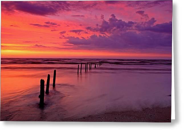 Somerset - England Greeting Cards - Awe Inspiring Sunset Somerset Greeting Card by Ollie Taylor