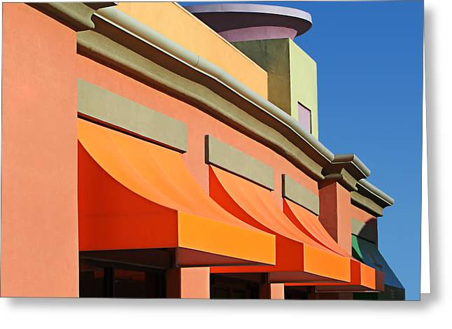 Purple Awnings Greeting Cards - Awesome Awnings Greeting Card by Nikolyn McDonald