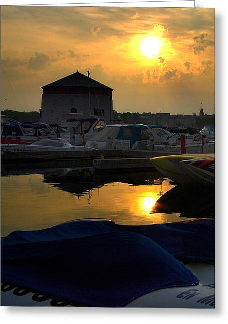 Paul Wash Greeting Cards - Awesome Kingston Marina Sunrise Greeting Card by Paul Wash