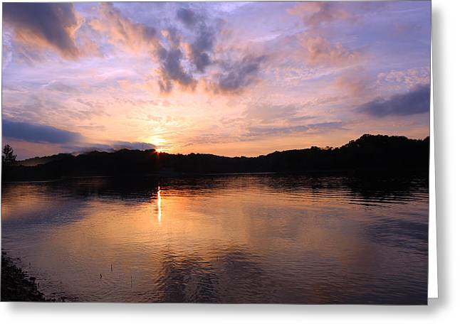 Indiana Photography Digital Greeting Cards - Awesome Sunset Greeting Card by Lorna Rogers Photography