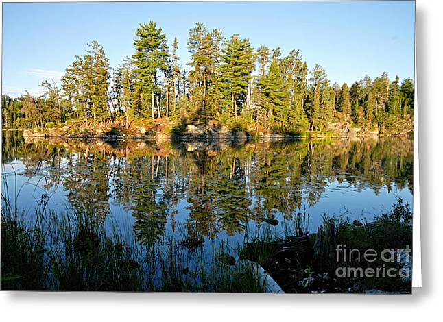 Boundary Waters Greeting Cards - Awesub Morning Greeting Card by Larry Ricker