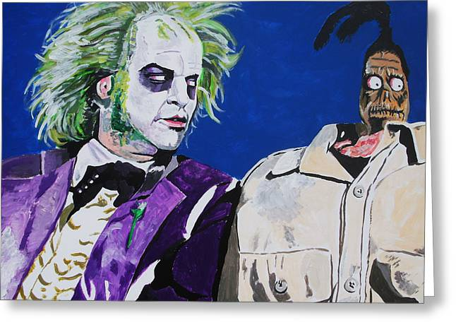 Beetlejuice Greeting Cards - Awkward Greeting Card by Jeremy Moore