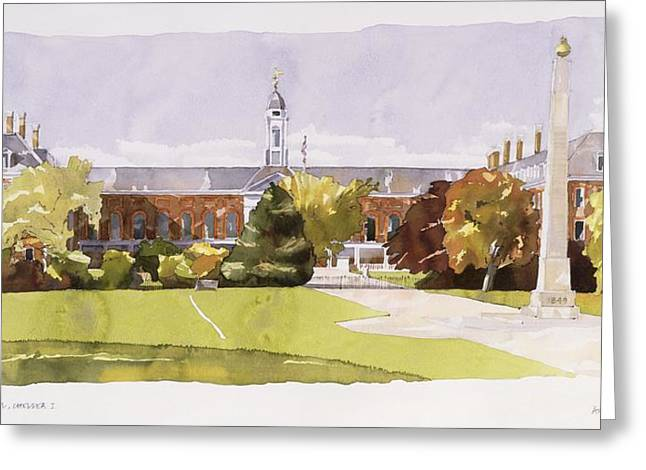 Structure Drawings Greeting Cards - The Royal Hospital  Chelsea Greeting Card by Annabel Wilson