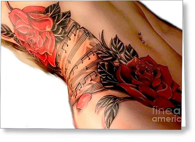 Tattoed Greeting Cards - Awsome Body Greeting Card by Tbone Oliver