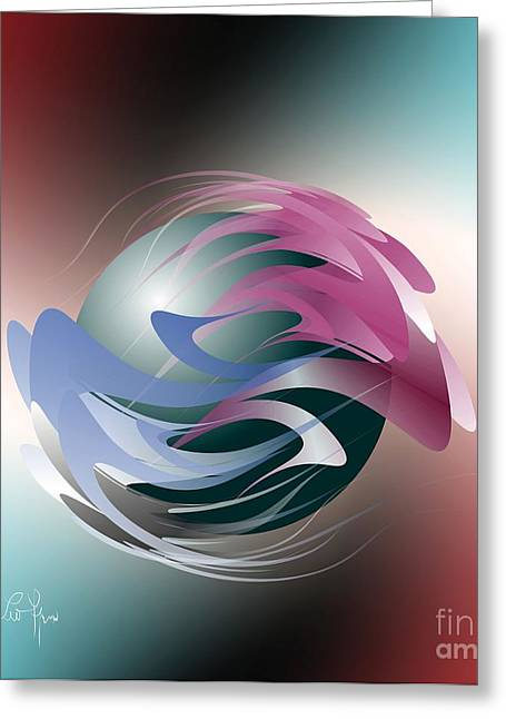 Axial Rotation Greeting Card by Leo Symon