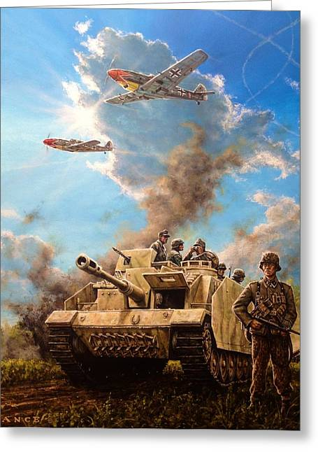 Axis Front 1944 Greeting Card by Dan Nance