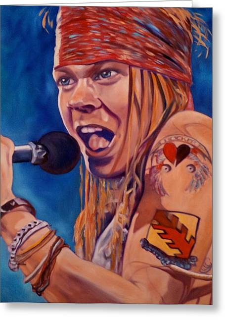 Axl Rose Paintings Greeting Cards - Axl Greeting Card by Christina Clare