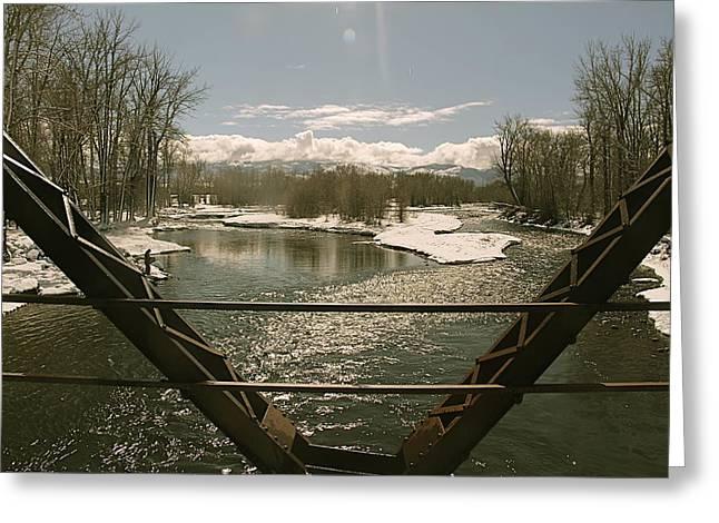 Gallatin River Greeting Cards - Axtell Bridge Greeting Card by Jon Lister