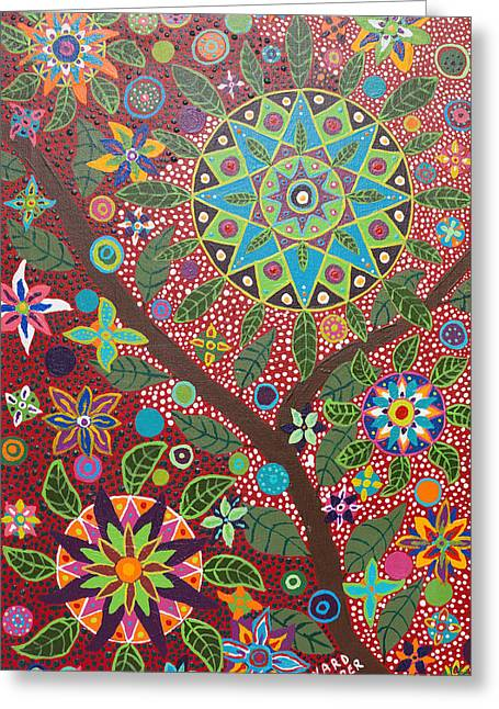 Shamanism Greeting Cards - Ayahuasca Vision Greeting Card by Howard Charing