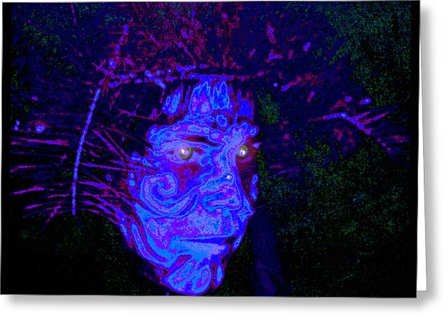 Healing Journey Greeting Cards - Ayahuascan Evening Greeting Card by Susanne Still