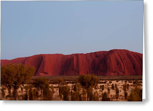 Ayers Rock Greeting Cards - Ayers Rock At Dusk, Northern Territory Greeting Card by Panoramic Images