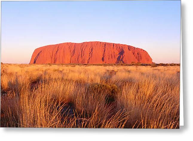 Monolith Greeting Cards - Ayers Rock, Uluru-kata Tjuta National Greeting Card by Panoramic Images