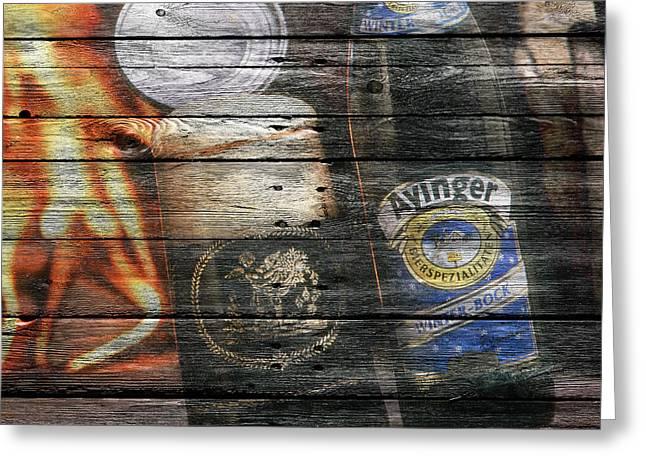 Saloons Greeting Cards - Ayinger Beer Greeting Card by Joe Hamilton